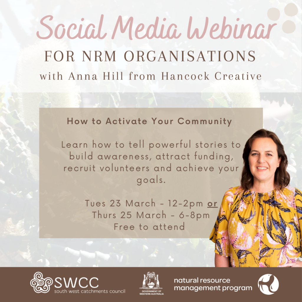 Webinar: Social Media for NRM Organisations - How to Activate Your Community